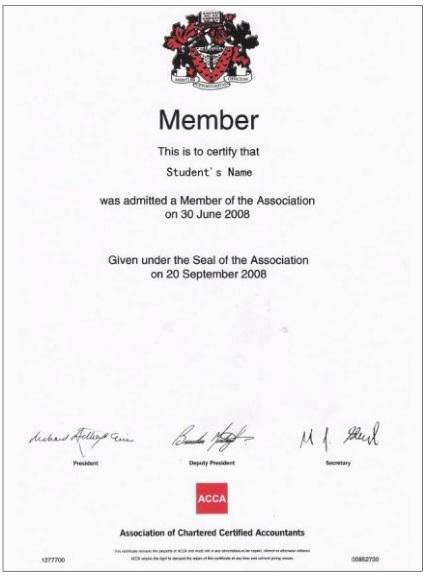 ACCA会员资格证书-ACCA专区 证书收获 ACCA,ACCA学习,ACCA