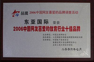 中国网友喜爱的教育行业十佳品牌
